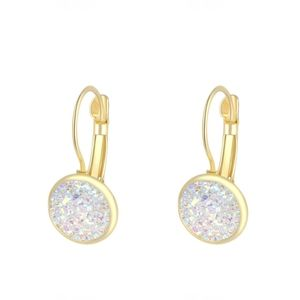 3/$20 New Gold & Iridescent Geode Druzy Earrings